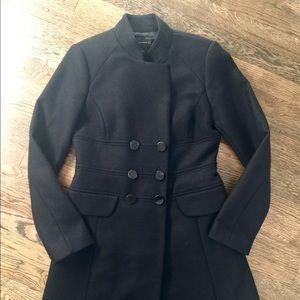 Zara Black Wool Coat - Like New